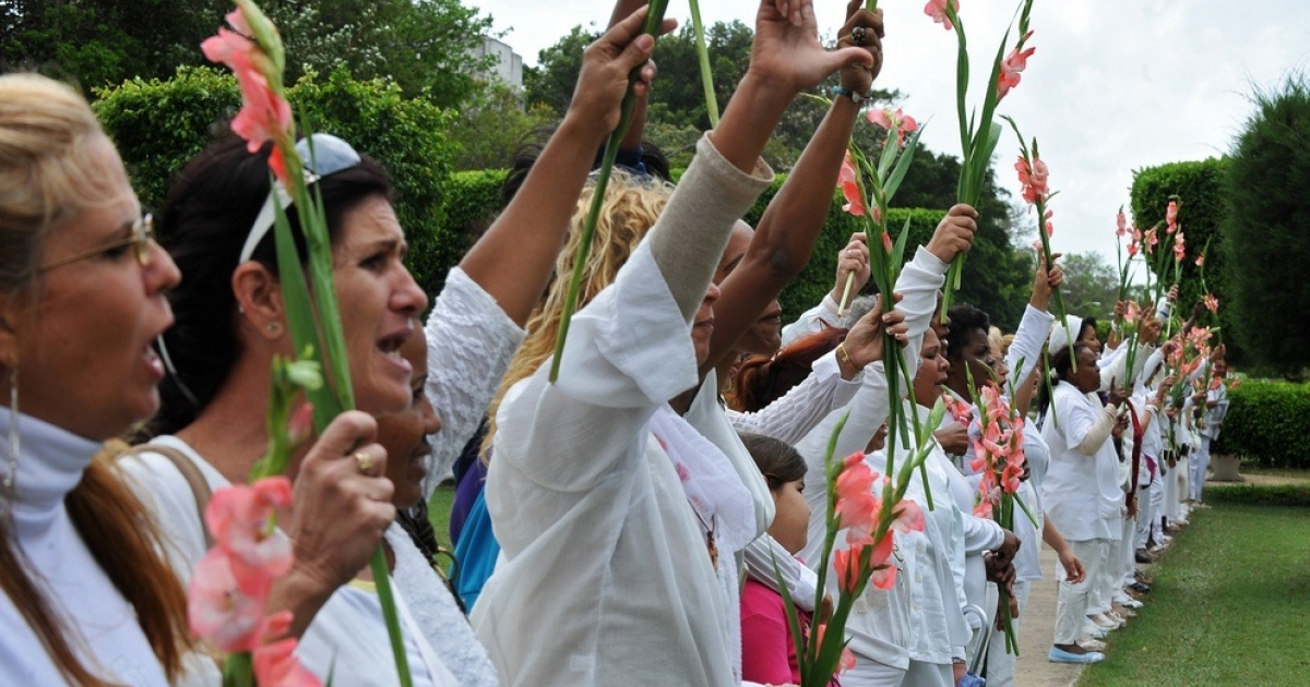 Members of the Cuban opposition group Ladies in White. Cuba released some political prisoners last year in a deal brokered by the Roman Catholic Church.</p>