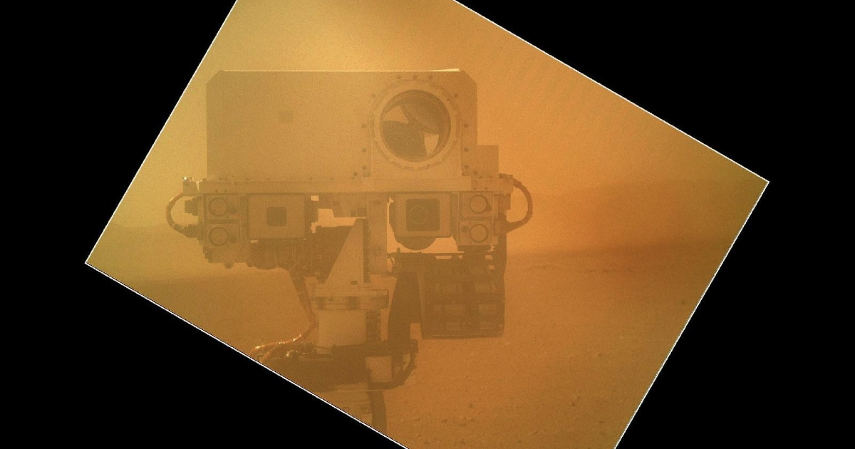 Mars rover Curiosity's self-portrait</p>