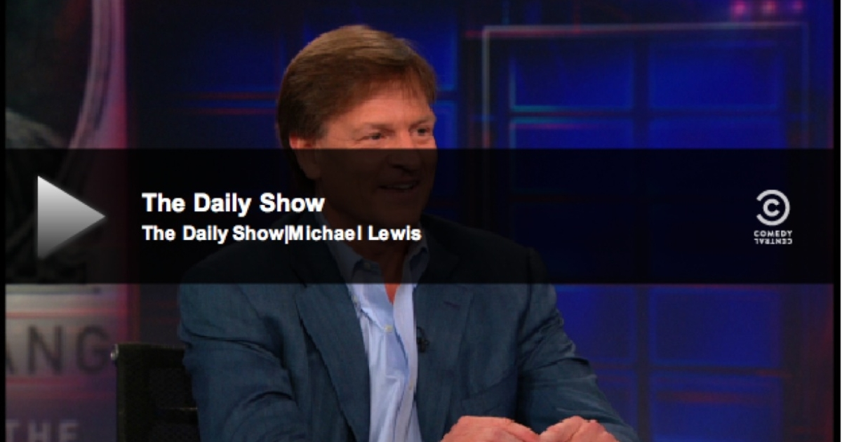 Can the euro zone crisis really be funny? Michael Lewis on Jon Stewart's Daily Show.</p>