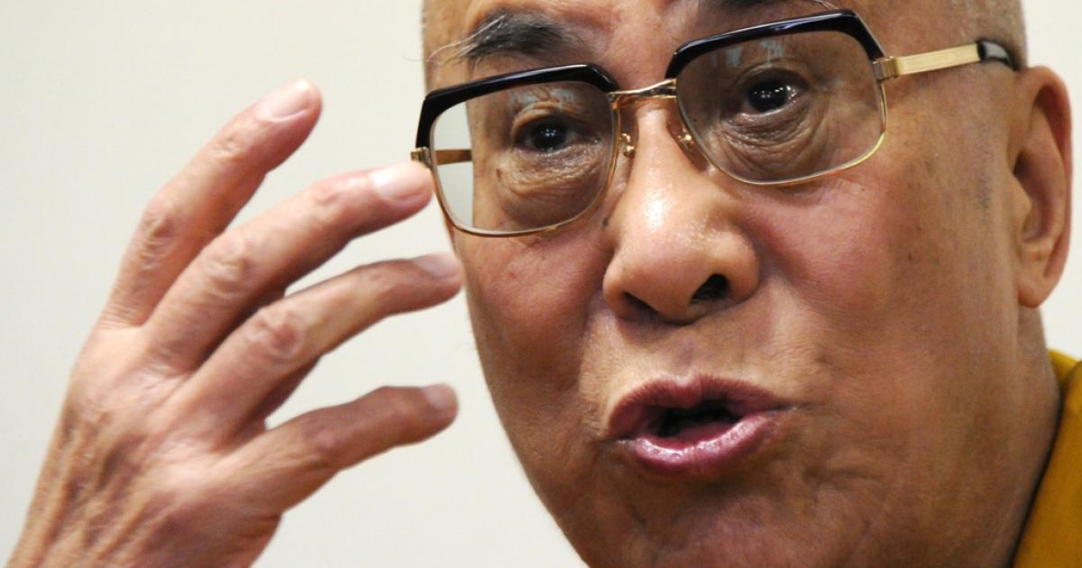 The Dalai Lama in Tokyo on April 29, 2011.</p>