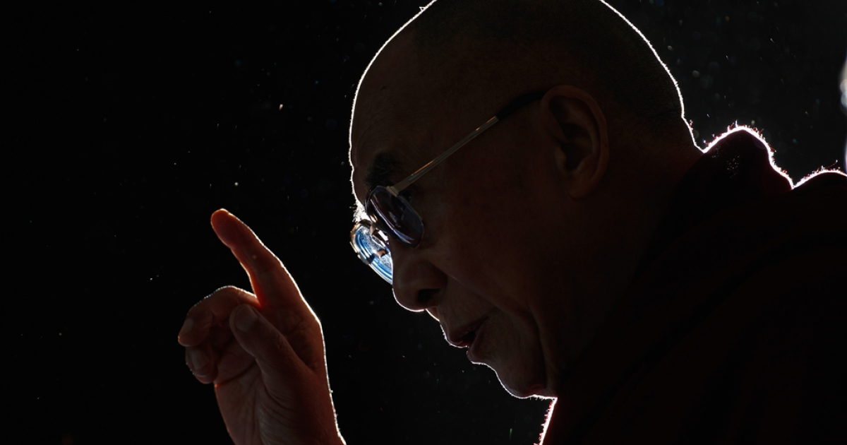 The Dalai Lama at The Lowry Hotel on June 15, 2012, in Manchester, England.</p>