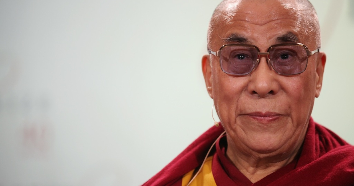 His Holiness the Dalai Lama attends a press conference in St Paul's Cathedral before receiving the 2012 Templeton Prize on May 14, 2012 in London, England. The honor is awarded to people who 'affirm life's spiritual dimension'.</p>