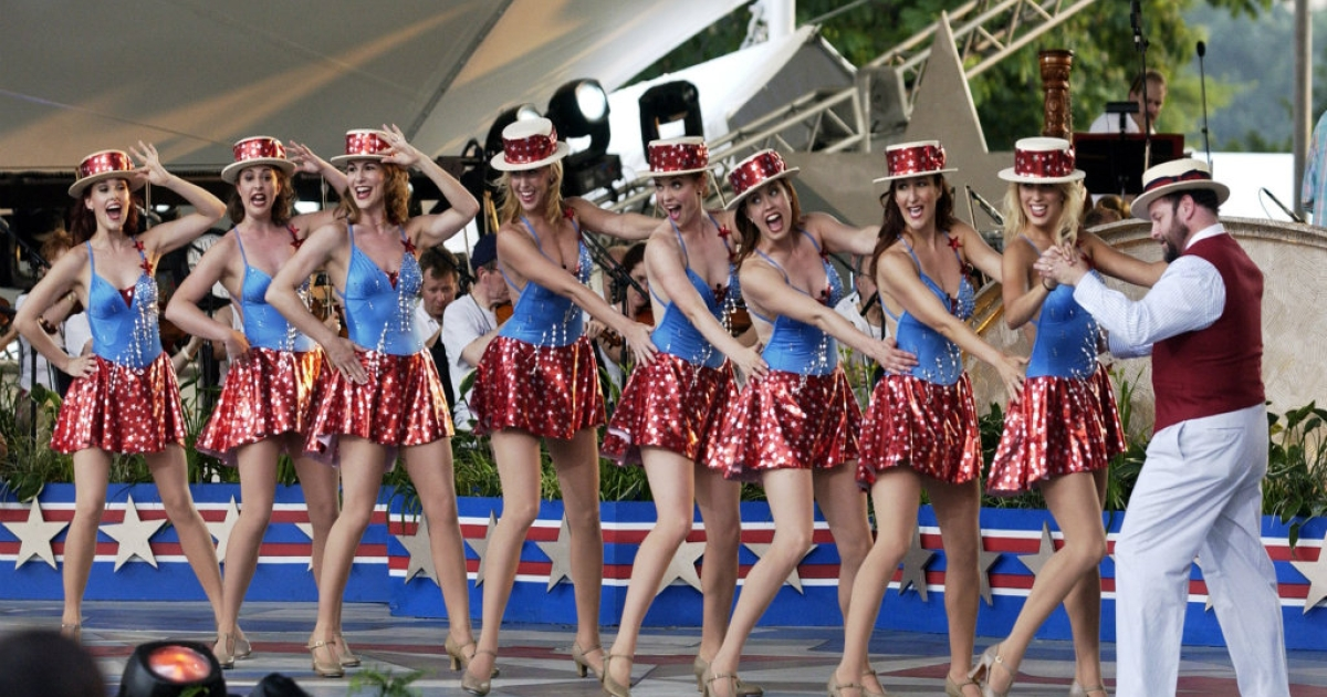 Remember, whatever you wear, to add a dash of flair: sequins, sequins, sequins.  These ladies certainly did. Even Jason Alexander is sporting a dapper hat as he prepares for the Capitol Fourth 2006 Holiday Concert.</p>