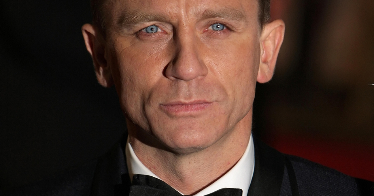 British actor Daniel Craig arrives for the world premiere of the new James Bond film