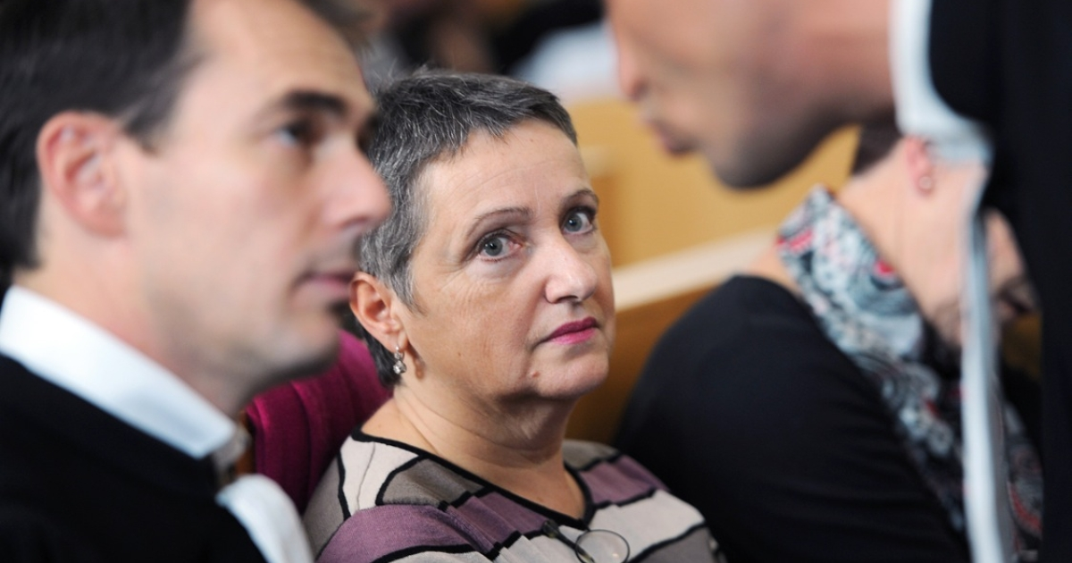 French psychiatrist Daniele Canarelli in court in Marseille. She was found guilty of manslaughter after one of her patients committed murder, to the concern of other medical professionals.</p>