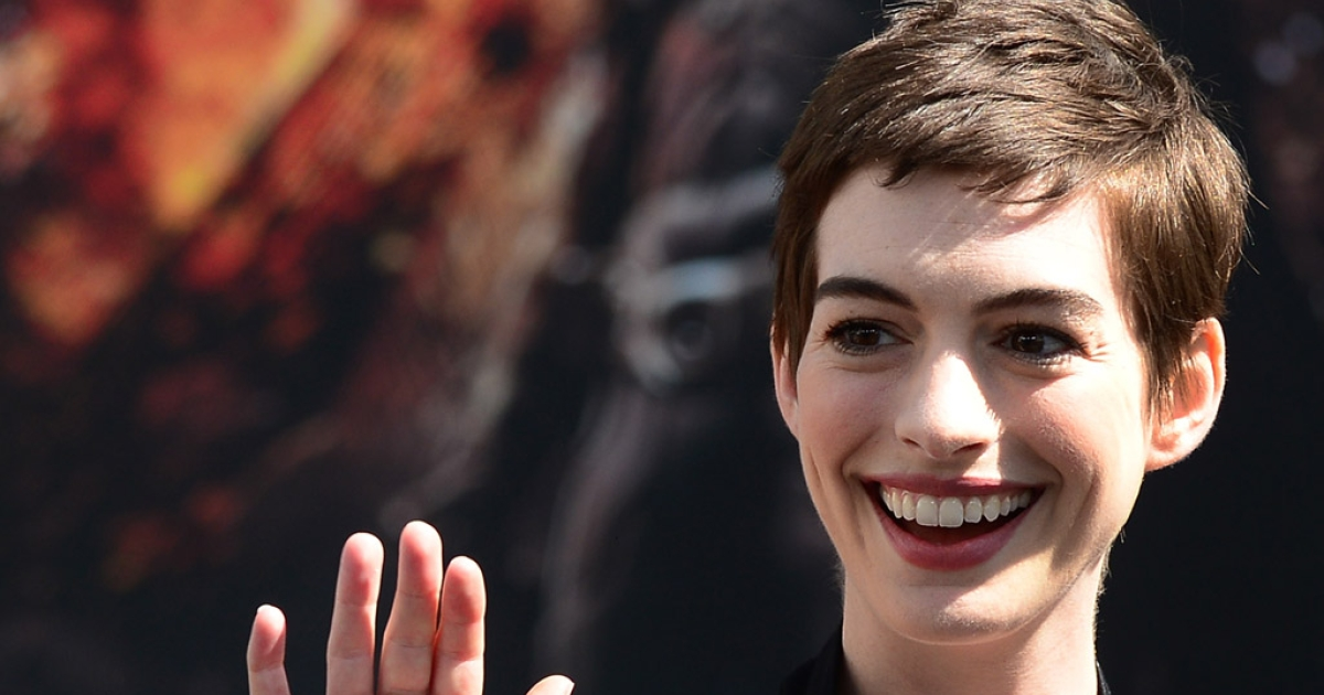 Actress Anne Hathaway arrives to honor director Christopher Nolan's in front of Grauman's Chinese Theater in Hollywood on July 7, 2012. The director of