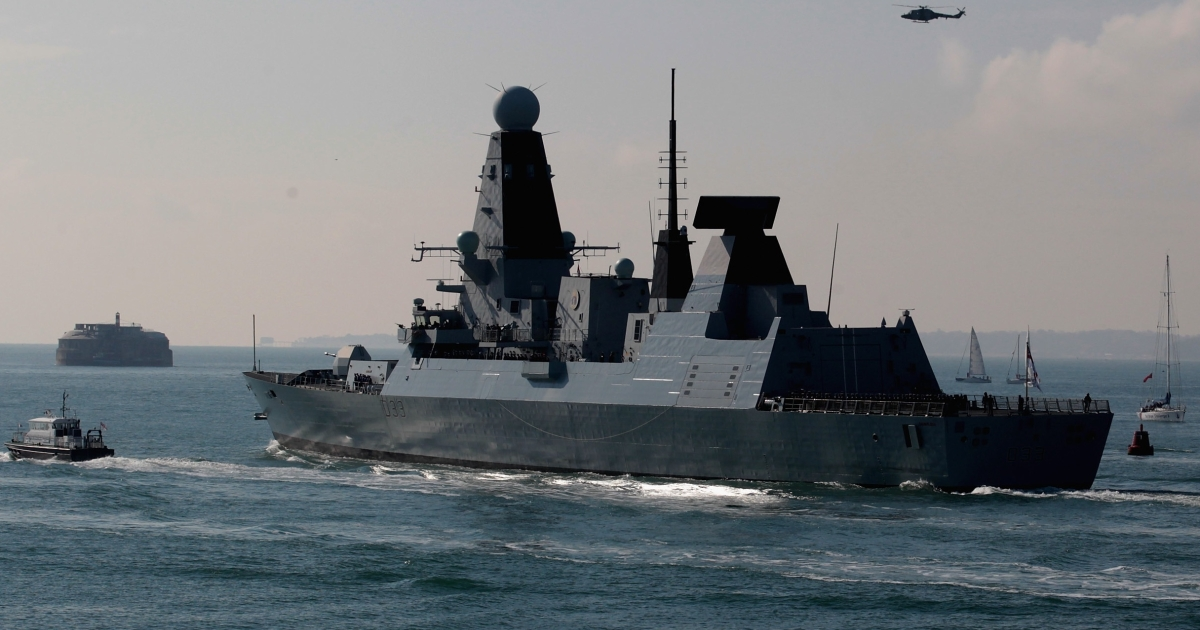 Britain's deployment of the HMS Dauntless, seen leaving Portsmouth for the South Atlantic on April 4, came just two days after the 30th anniversary of the Falkland/Malvinas war, fueling tensions between Argentina and the UK.</p>