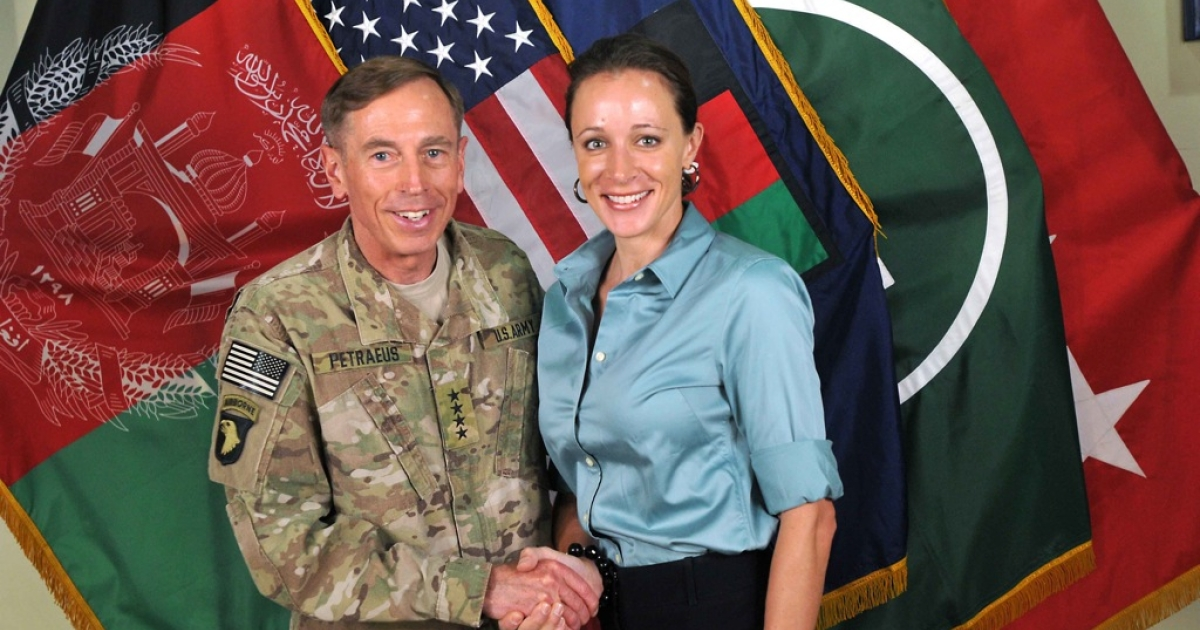A complaint by a friend of the Petraeus family, Jill Kelley, that she was receiving harassing emails would eventually lead FBI investigators to correspondence between David Petraeus and his biographer, Paula Broadwell, that revealed they had had an affair. This picture shows them together in July 2011.</p>