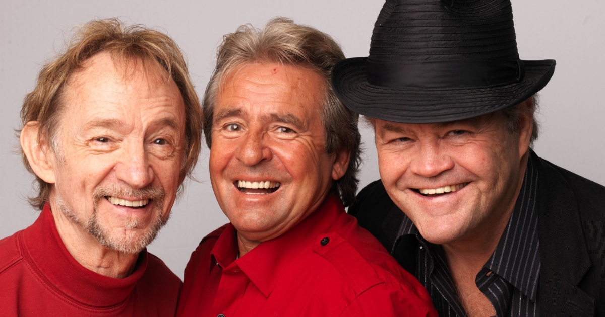 (L-R) Peter Tork, Davey Jones and Micky Dolenz of The Monkees pose during a portrait session in London to publicize the band's 45th anniversary tour last year.</p>