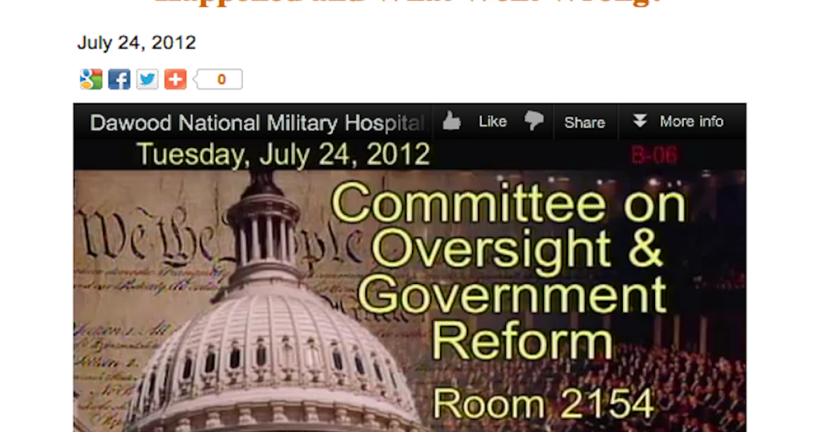 A screen shot taken from the Committee on Oversight and Government Reform website.</p>