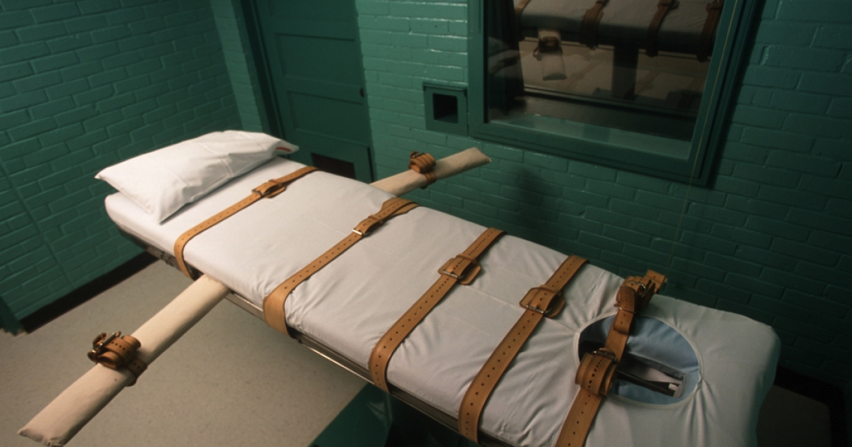 A new report suggests Texas and other states may run out of a crucial drug which is part of the lethal injection administered as part of the death penalty. A lethal injection chamber in Huntsville, TX, June 23, 2000. (Photo by Joe Raedle/Newsmakers)</p>