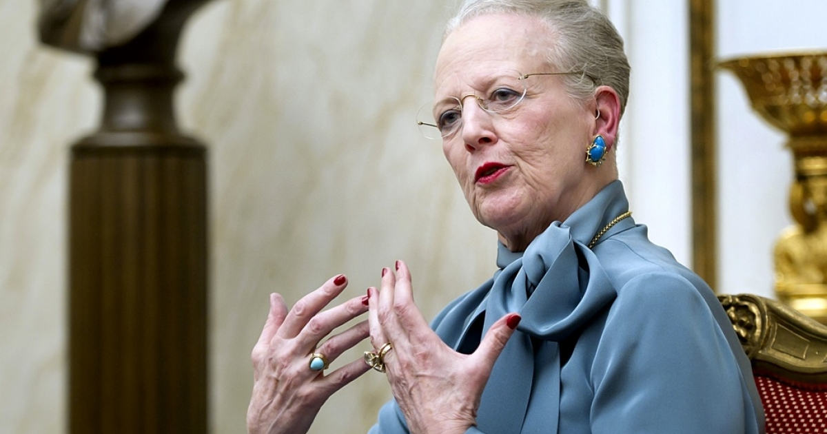 Denmark's Queen Margrethe talks to the media on Jan. 10, 2012 during a press conference at Amalienborg Palace in Copenhagen prior to the celebration of the Queen's 40th Jubilee.</p>