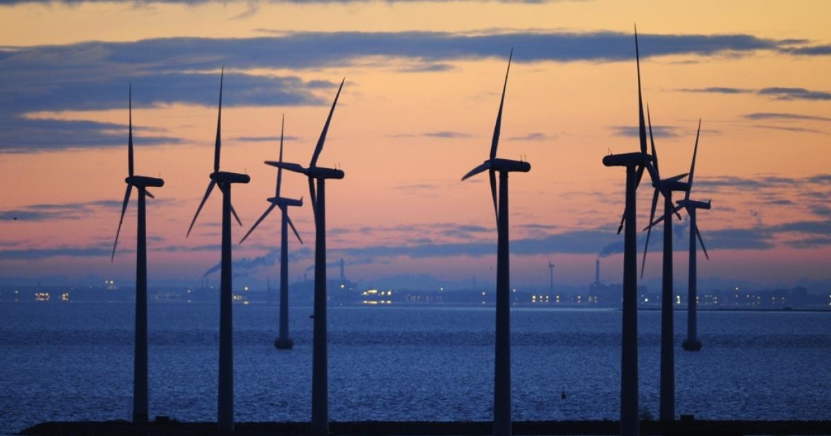 A wind park in motion in Copenhagen.</p>