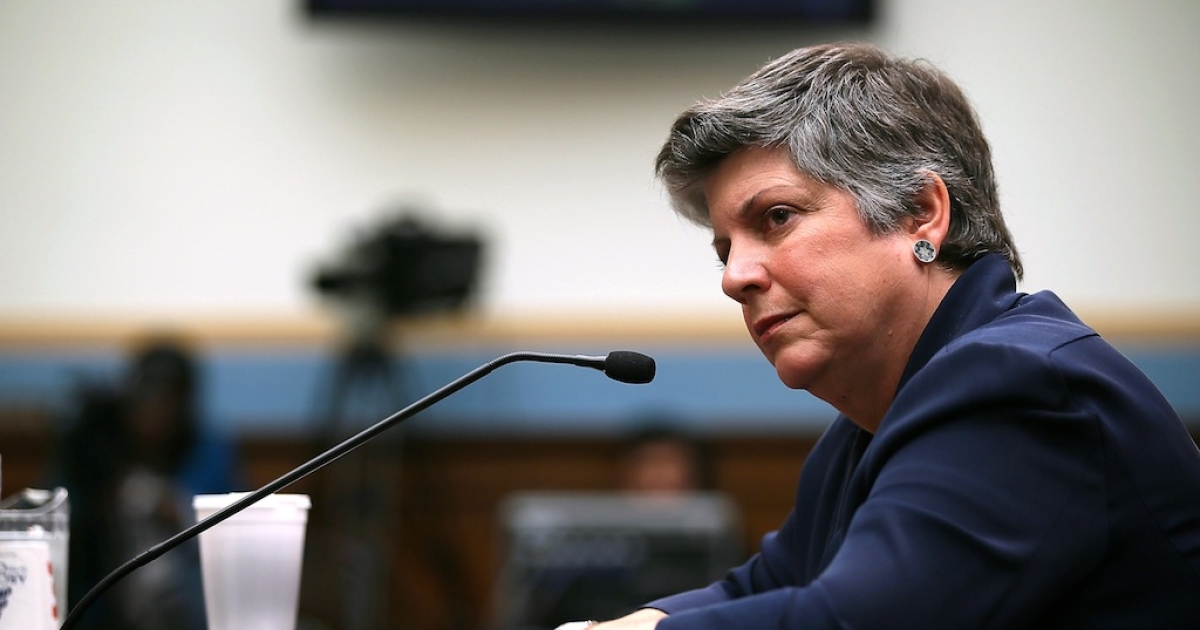 U.S. Homeland Security Secretary Janet Napolitano testifies during a hearing before House Judiciary Committee July 19, 2012 on Capitol Hill in Washington, DC. The hearing was focused on