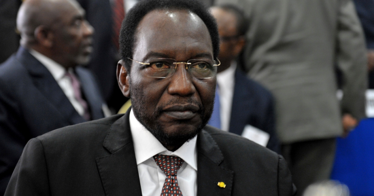 Mali's interim leader Dioncounda Traore is pictured on May 3, 2012 during the opening of the 15-nation Economic Community of West African States (ECOWAS) talks. Traore was reportedly taken to a hospital after being beaten by protesters and suffering from head injuries on May 21, 2012.</p>