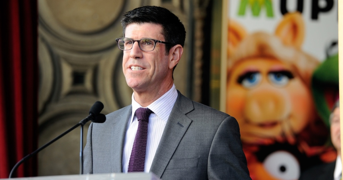 Walt Disney Studios President Rich Ross, attends the star unveiling ceremony for The Muppets on March 20, 2012 in Hollywood, California.</p>
