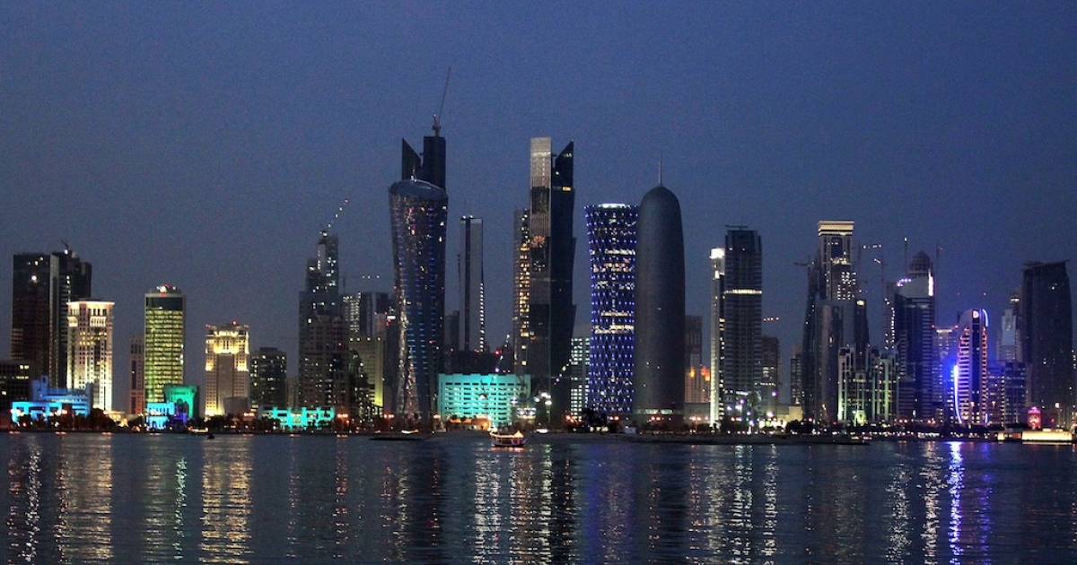 A view of Doha's skyline. The FIFA world cup 2022 is set to take place in Qatar.</p>