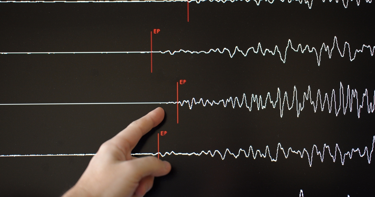 A technician of France's National Seismic Survey Institute, or RENASS, presents a graph in March in Strasbourg as it registers a major earthquake in Japan.</p>