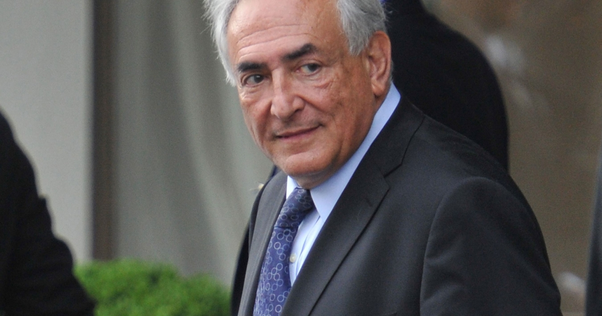 International Monetary Fund Managing Director Dominique Strauss-Kahn leaves the Second Annual Conference of International Monetary Fund on May 10, 2011 in Zurich, Switzerland.</p>