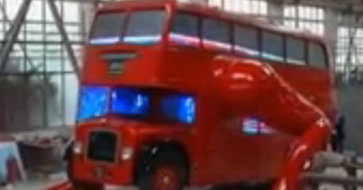 Czech artist David Cerny turned a traditional London double-decker bus into a mechanical sculpture of an athlete doing pushups to celebrate the opening of the Olympics on Friday.</p>