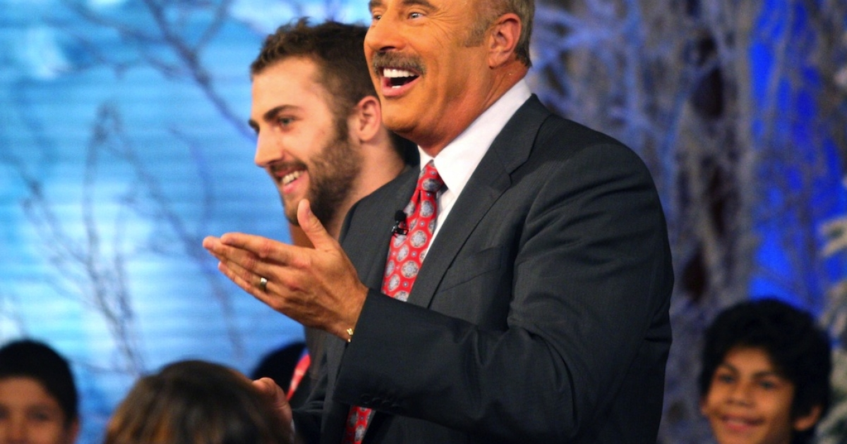 Dr. Phil in action.</p>