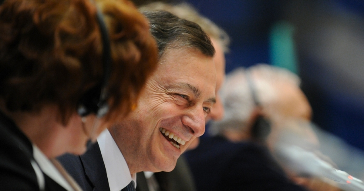 ECB president Mario Draghi doesn't seem overly worried about