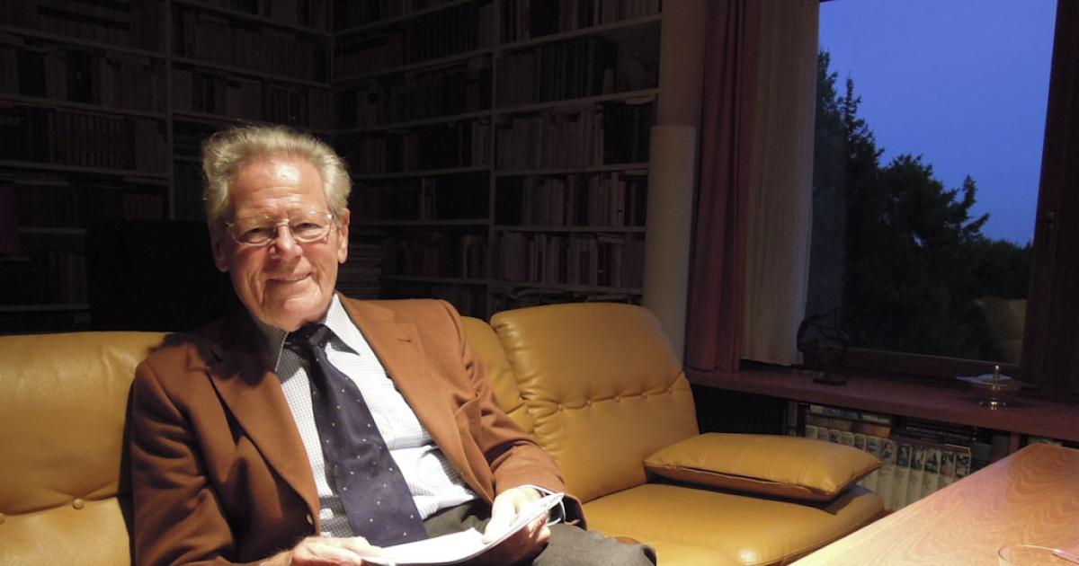 Hans Küng in his office in Tübingen, Germany.</p>