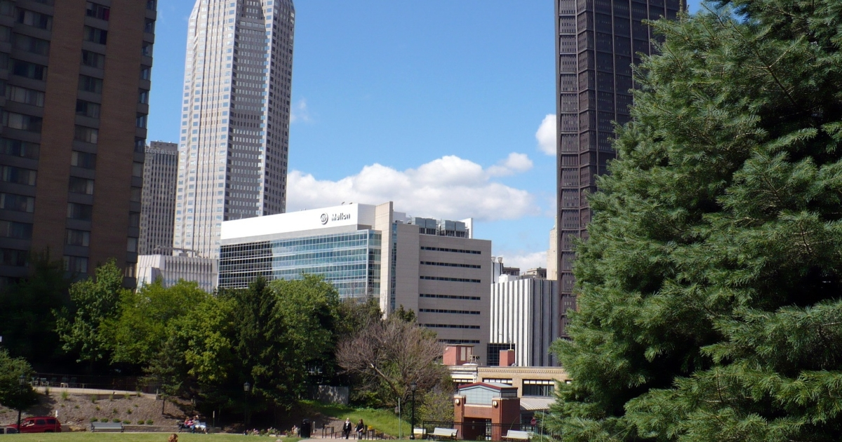 Duquesne University's view of the Pittsburgh skyline.</p>