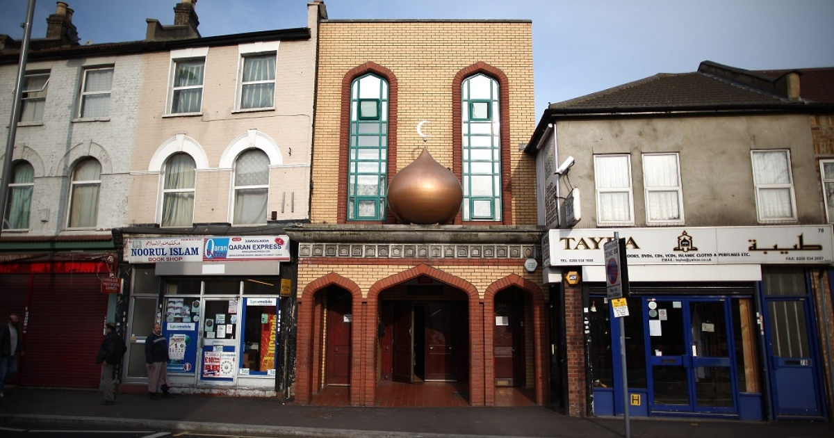 A mosque in Leyton near to the Olympic Park on March 22, 2012 in London, England.</p>