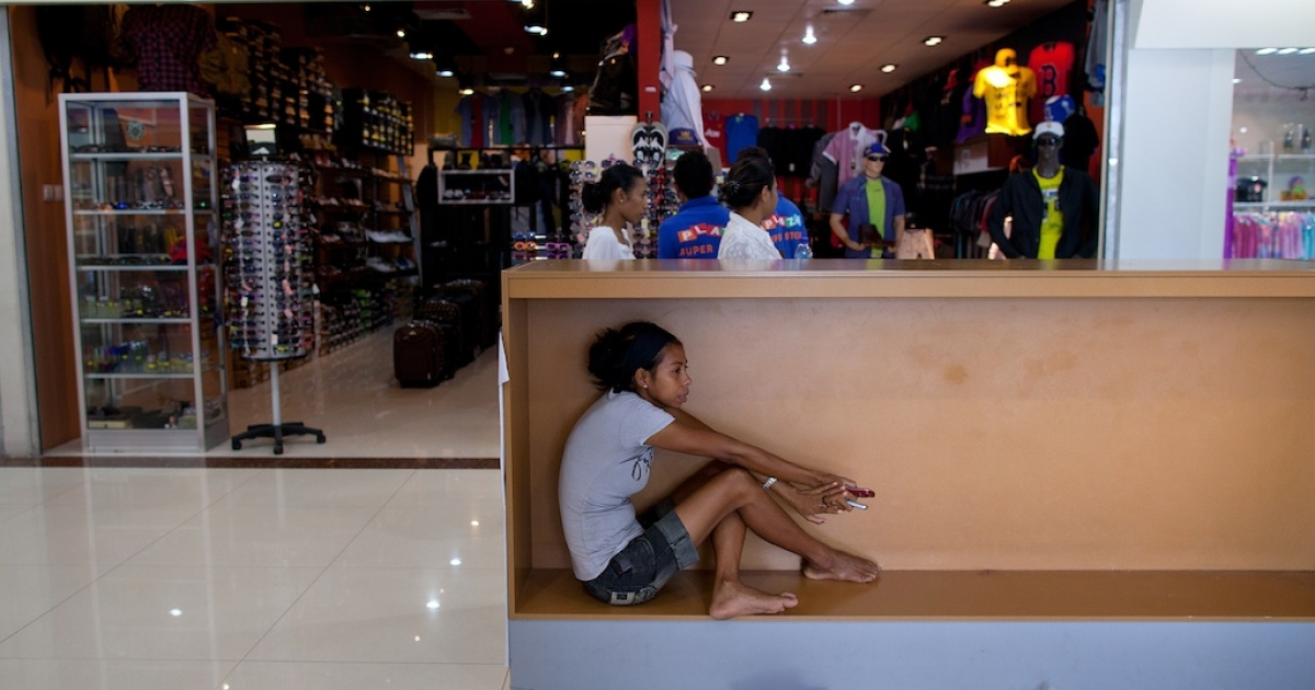 This shopping mall, Timor Plaza, is a sign of progress, but many East Timorese returning from abroad still find themselves overqualified for the jobs available.</p>