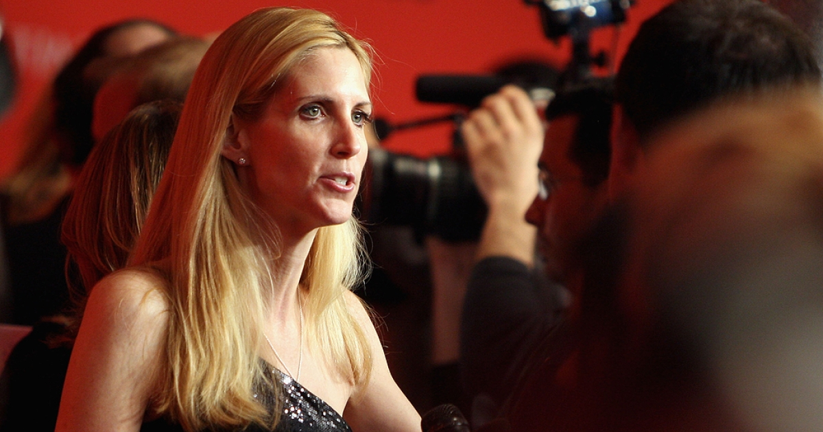 Political commentator Ann Coulter (L) attends Time's 100 Most Influential People in the World Gala at the Frederick P. Rose Hall at Jazz at Lincoln Center on May 5, 2009 in New York City.</p>
