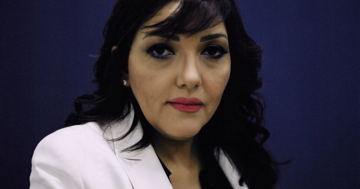 Gamila Ismail, politician and television personality in Cairo in May 2012.</p>