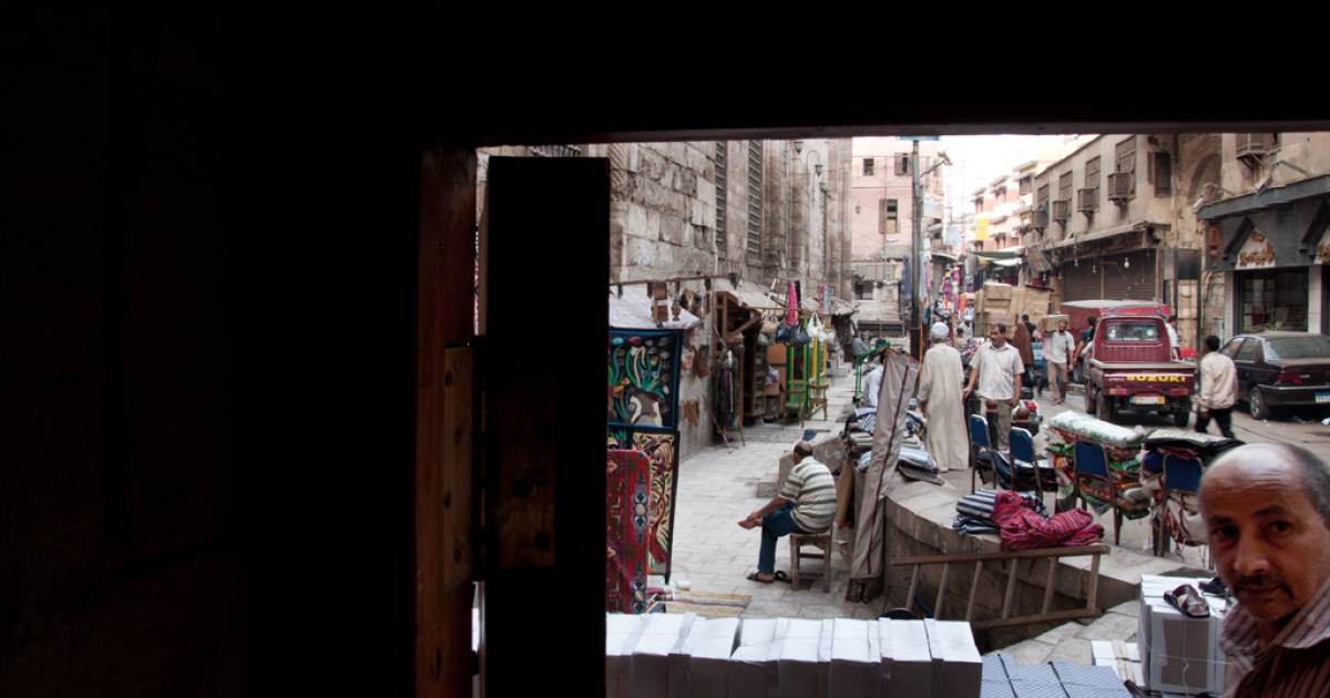 Lightly trafficked stands line the narrow streets of Islamic Cairo in October 2011. Tourism is down 25 percent this year and some vendors are losing hope.</p>