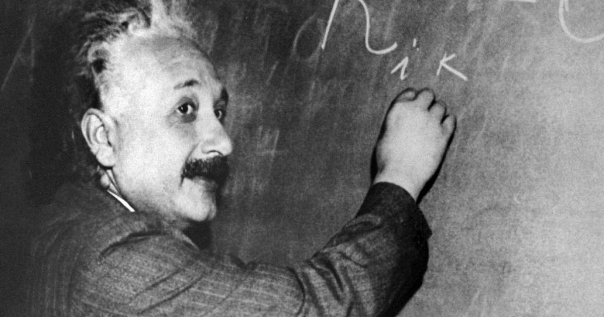 An undated portrait of Albert Einstein (1879-1955).</p>