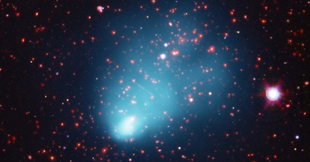 This galaxy cluster, which has been nicknamed