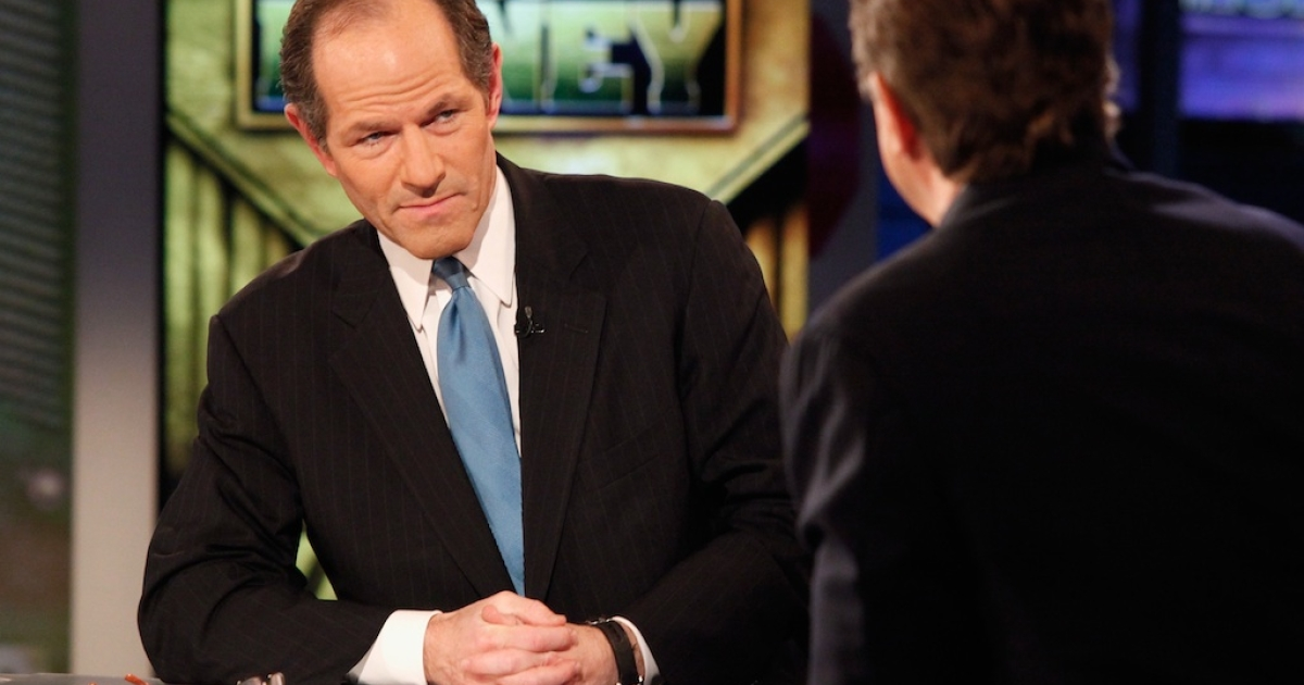 Former New York Governor Eliot Spitzer, one of Horace Mann's distinguished alumni, visits FOX Business' 'Power and Money with David Asman' at FOX Studios on November 28, 2011 in New York City.</p>