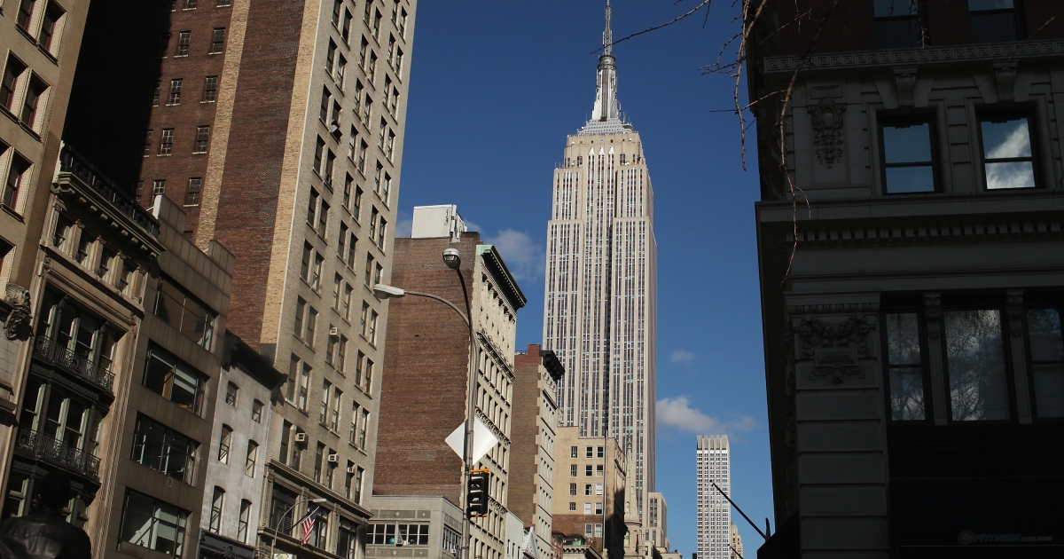 The Empire State Building in New York City.</p>