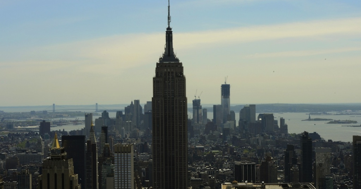 A view of the Empire State Building on April 30, 2012. A shooting outside the building occurred today around 9 a.m.</p>
