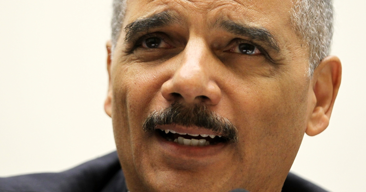 US Attorney General Eric Holder testifies during a hearing on the oversight of the Justice Department before the House Judiciary Committee in Washington, DC, on Dec. 8, 2011.</p>