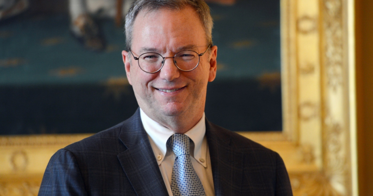 Google executive chairman Eric Schmidt Oct. 29, 2012 in Paris.</p>