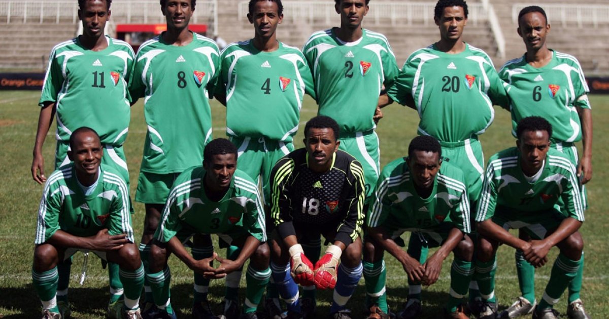 In December 2009 a dozen players from Eritrea's national football team (above) went missing after a competition in Kenya and on Monday half of Eritrean club side Red Sea FC pulled the same trick disappearing after a tournament in Tanzania.</p>