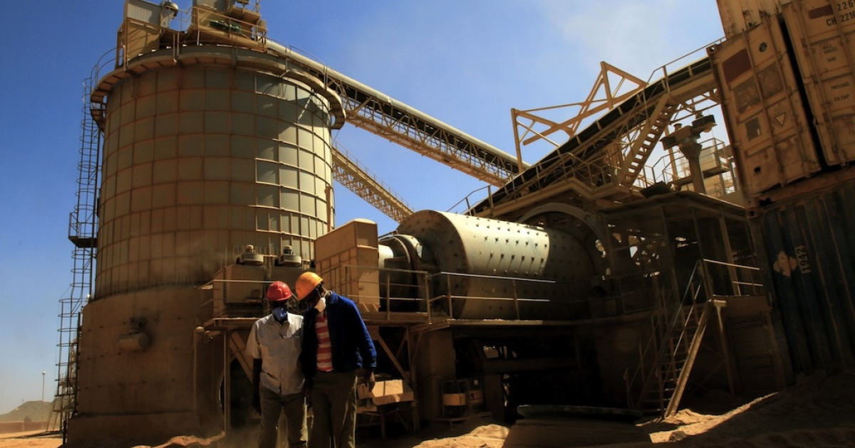 Gold mines in Eritrea (like this one pictured in Sudan) have been accused of using forced labor in a new report by Human Rights Watch. The Eritrean government forces all able-bodied men and most women into a national service system and sometimes