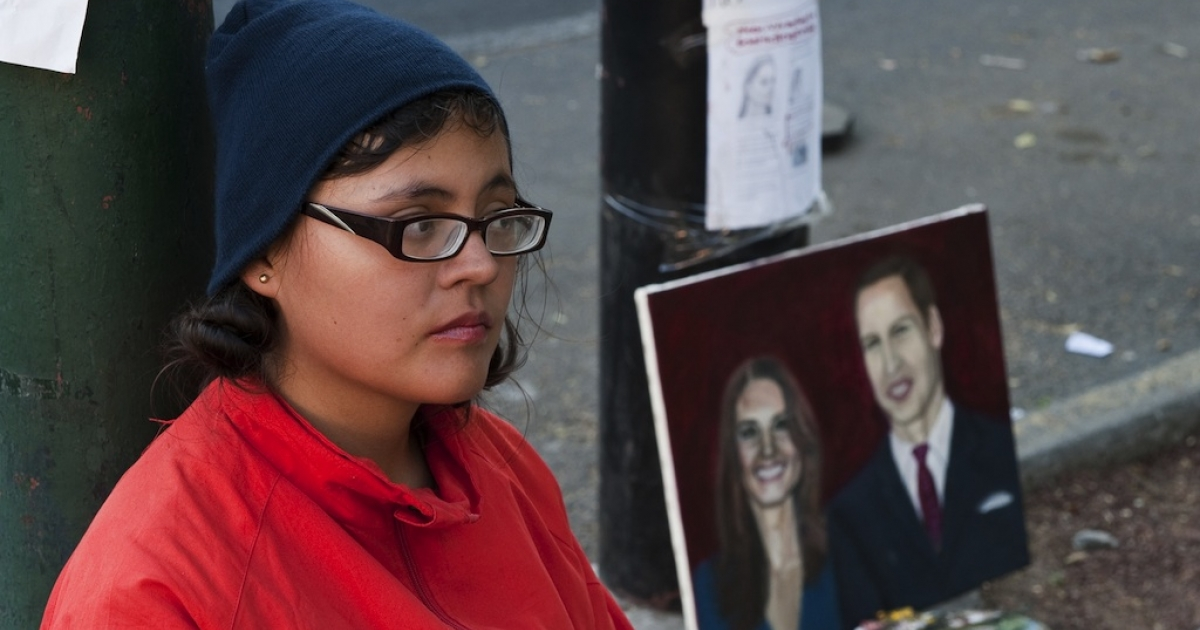 Mexican Estibalis Chavez held a hunger strike in front of the British embassy in Mexico City, on February 17, 2011.</p>