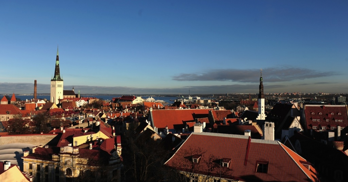 A general view of the medieval city of Tallinn on November 10, 2011 in Tallinn, Estonia. As the rest of the euro zone suffers from a debt crisis, Estonia's economy is red-hot.</p>