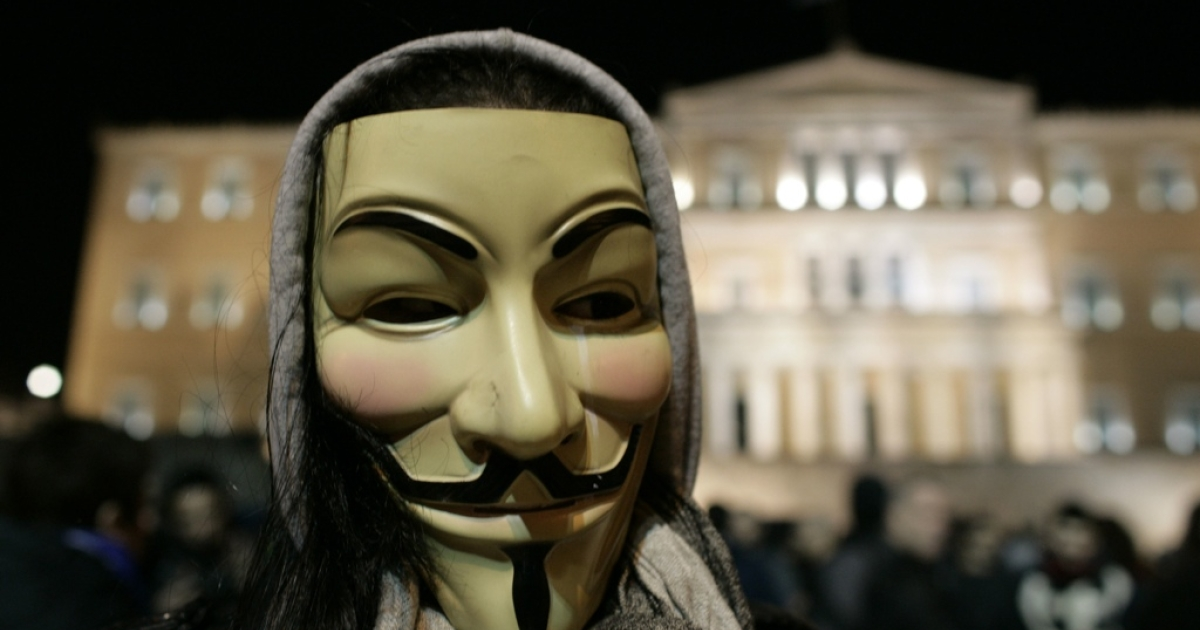 Demonstrating against austerity in Greece.</p>