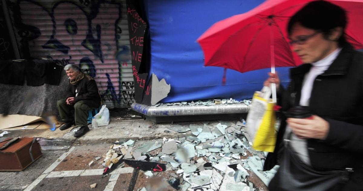 A familiar scene in Athens.</p>