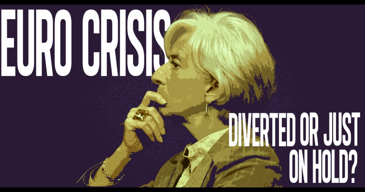 Photo Illustration: Though Christine Lagarde said a euro meltdown has been avoided, the International Monetary Fund chief conceded the crisis is still a very possible reality.</p>