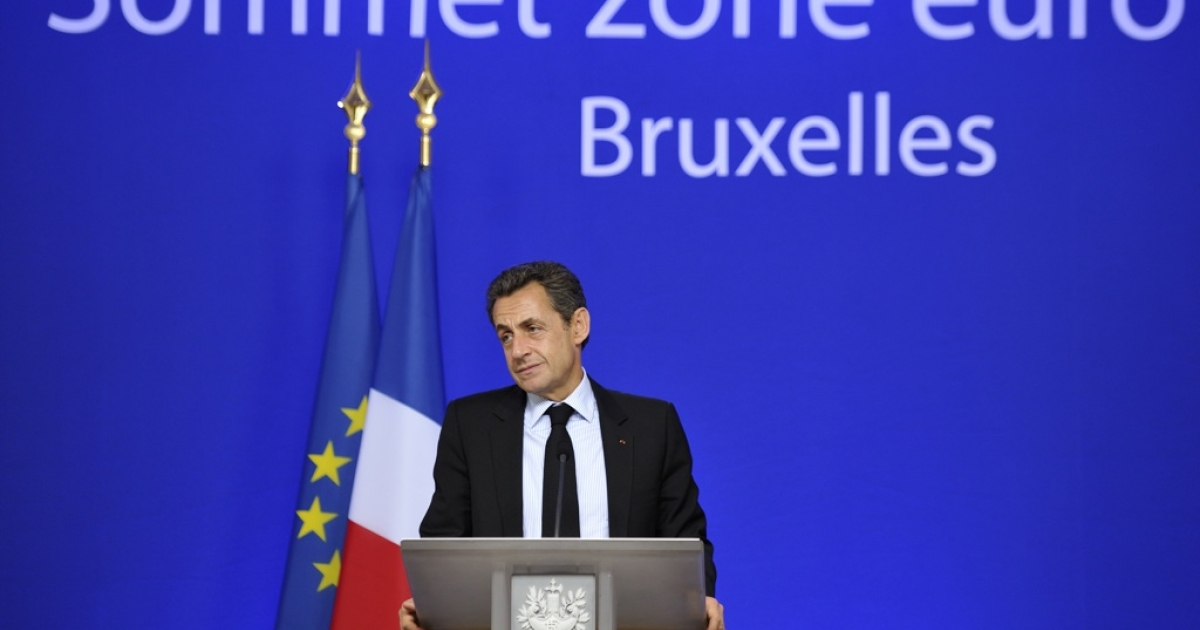 French President Nicolas Sarkozy reacts during a press conference at the end of a euro zone summit on October 27, 2011. The euro zone sealed a grand deal to overcome its festering debt crisis today. But will this latest rescue plan work?</p>