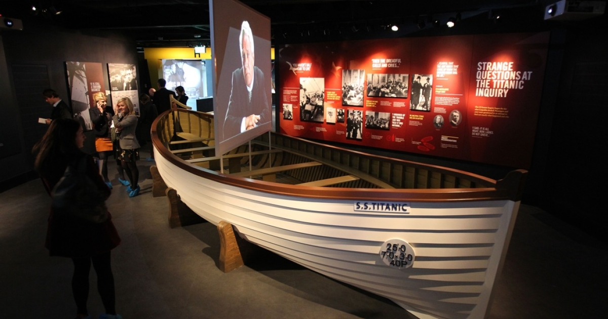 A replica of one of the Titanic's few lifeboats.</p>
