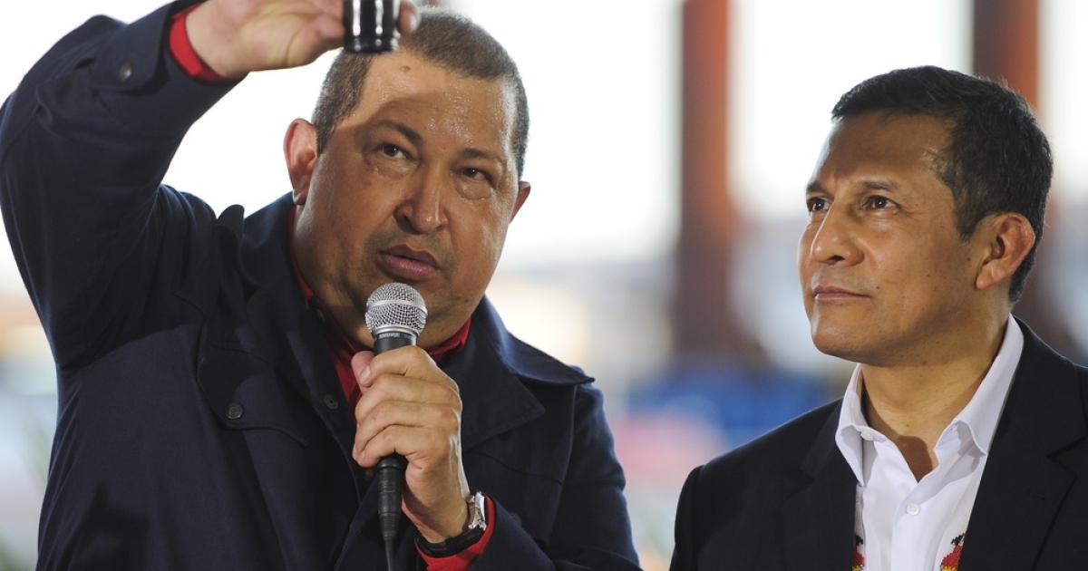 Venezuela President Hugo Chavez shows off some of his black gold.</p>